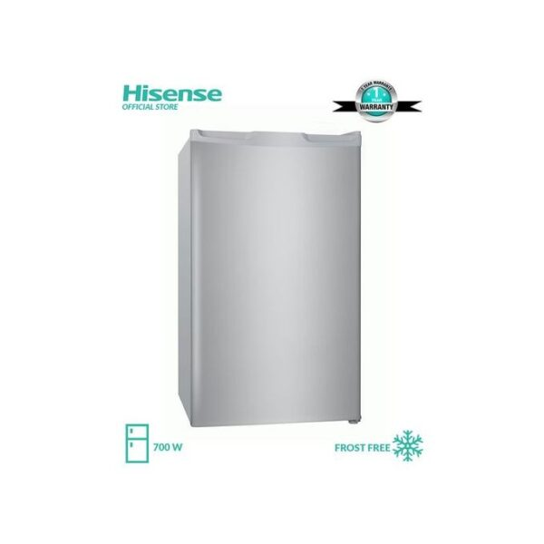 Hisense Refrigerator Single Door 92 Ltrs, No Frost , Low Noise, Environment-Friendly Tech , Model 092DR Silver