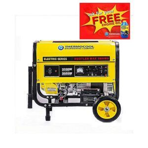 TEC Generator 3.75KVA- OPT -Electric with tyre and battery model 3500ES Blue