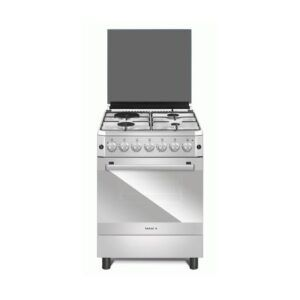 Maxi Gas Cooker 50 cm * 50 cm, 4 Gas burners, glass, stainless model 5050 4B Basic Black Grey