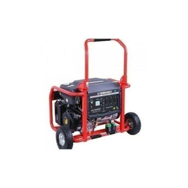 Sumec Firman Domestic Power Generator 9KW/KVA, Semi Silent, Black & Red colour, model Eco 12990ES Electric with Tyre