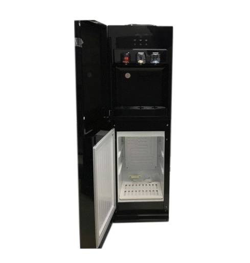 Maxi Water Dispenser, Black Color , 3 Faucets (Hot, Cold, Neutral), Cabinet + Refrigertor model YL1730S-B