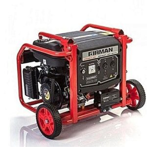 Firman Domestic Power Generator 7.6KW/KVA, Semi Silent, yellow, Handle, Electric,Tyre, model FPG 10800E2